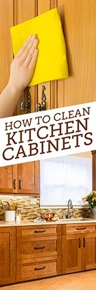 How to clean laminate cabinets simple green for Easy to clean kitchen cabinets