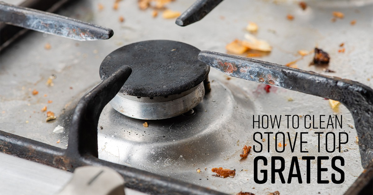 How To Clean Stove Top Grates Simple