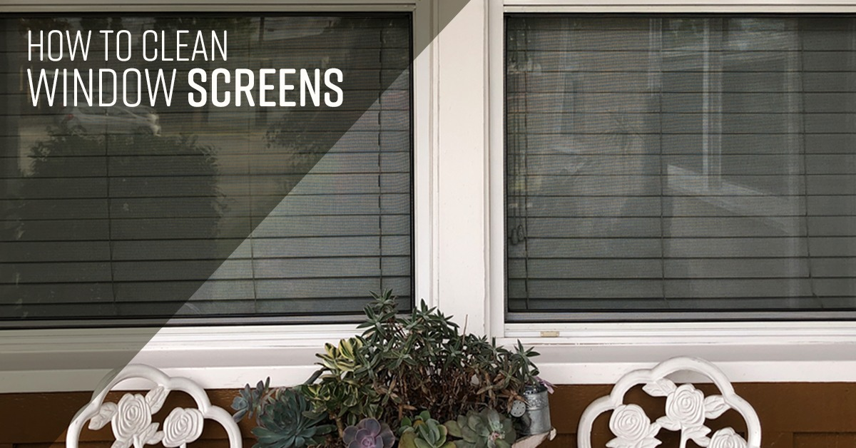 How To Clean Window Screens Simple Green