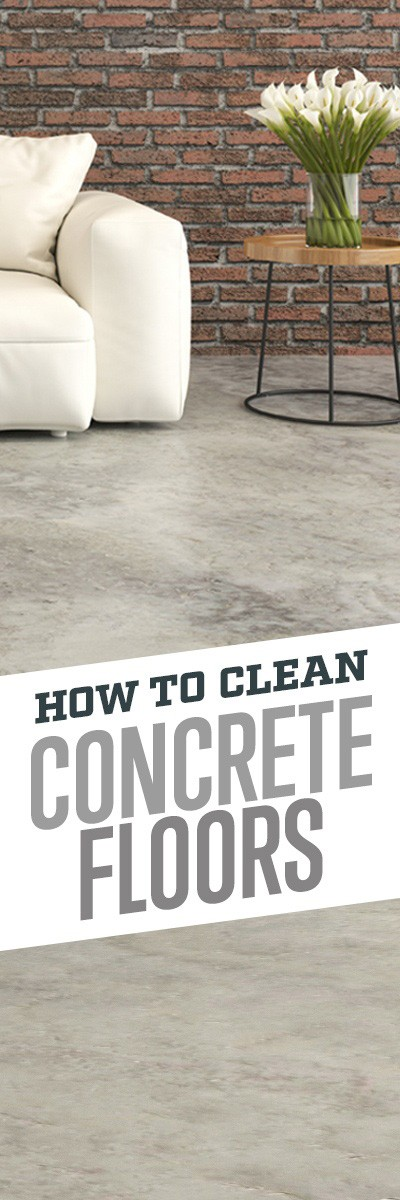 How to clean sealed concrete floors simple green for How do i clean concrete