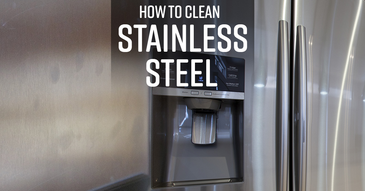 how to keep stainless steel refrigerator clean