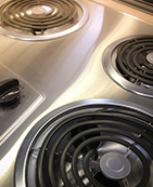 how to clean electric stove top stains