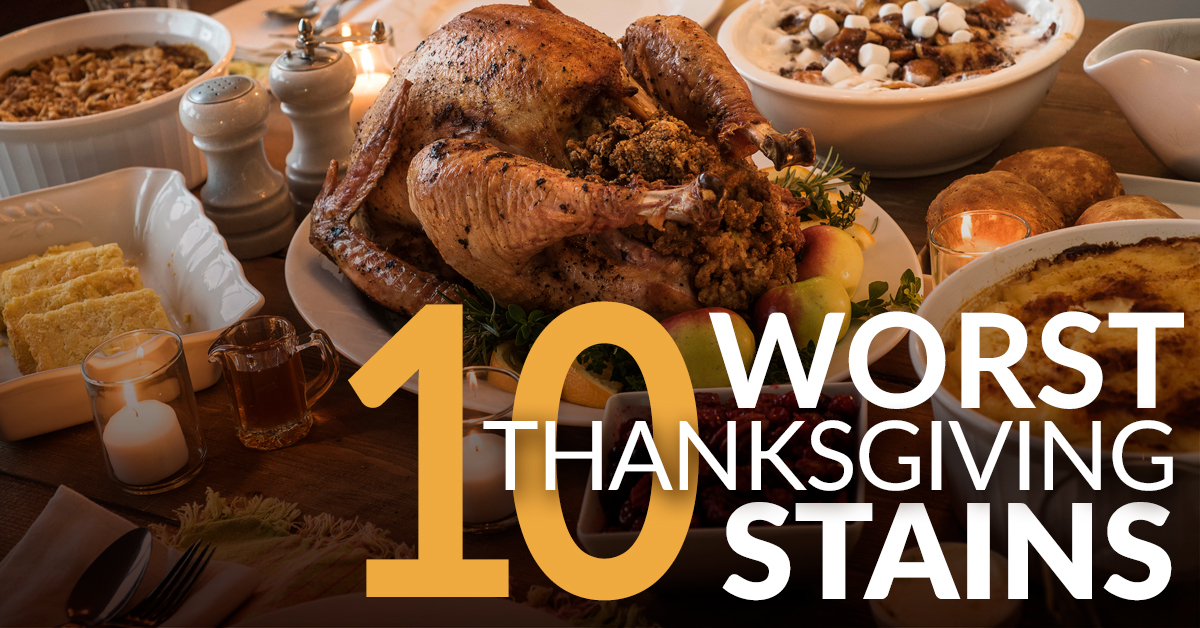 Thanksgiving Cleanup Guide: 10 Stains Made Easy