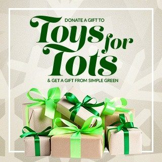 Simple Green Accepting Toys for Tots Donations