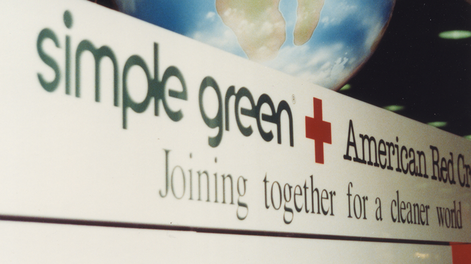 1991: Simple Green becomes the first cleaner ever to carry the iconic International Red Cross Disaster Relief symbol on its label.