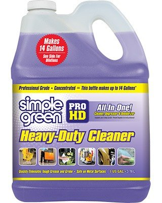 Simple green pro hd cleaner degreaser for Garage floor cleaner degreaser