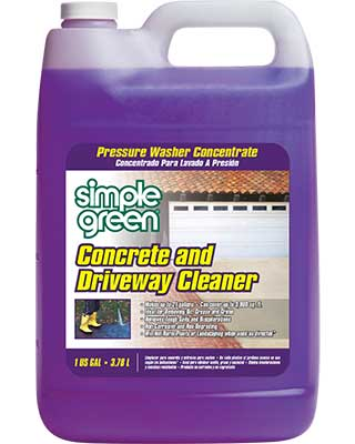 Simple green pressure washer concrete driveway cleaner for Cement cleaning products