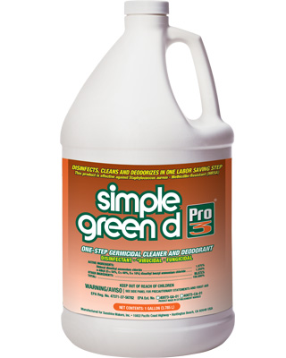 Simple Green d Pro 3® One-Step Germicidal Cleaner and Deodorant
