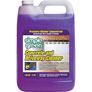 Simple green pressure washer concrete driveway cleaner for What to clean concrete with